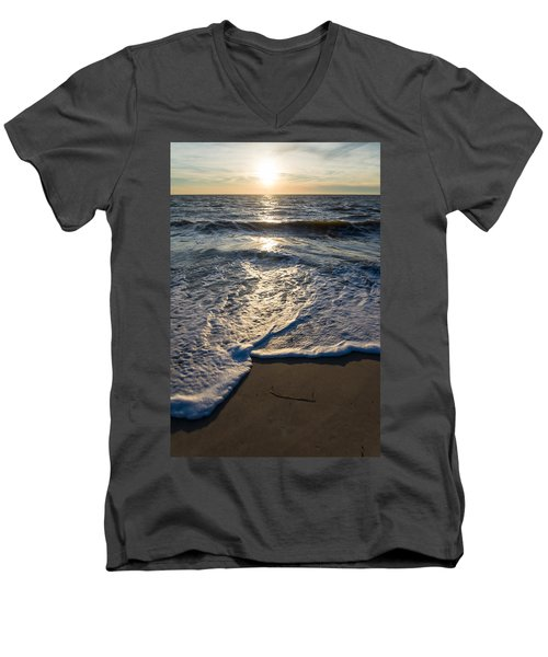 Men's V-Neck T-Shirt featuring the photograph Water's Edge by Kristopher Schoenleber