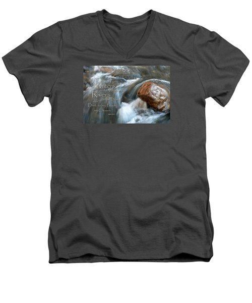 Waters In The Wilderness Men's V-Neck T-Shirt