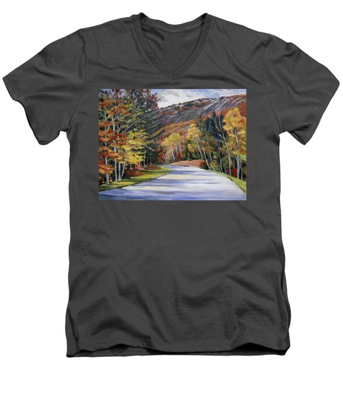 Waterville Road New Hampshire Men's V-Neck T-Shirt