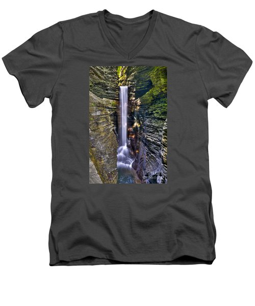 Watkins Glen Cascade Men's V-Neck T-Shirt