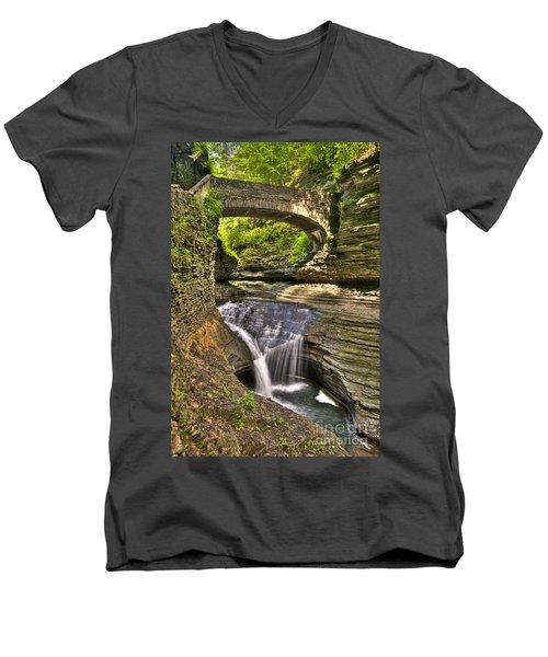 Watkins Glen Waterfalls Men's V-Neck T-Shirt