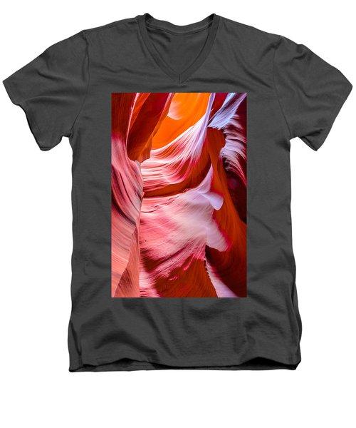 Waves Of Redrock Men's V-Neck T-Shirt