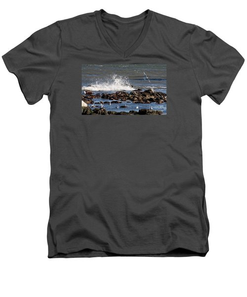 Waves Wind And Whitecaps Men's V-Neck T-Shirt