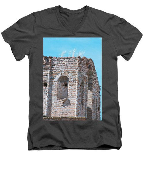 Men's V-Neck T-Shirt featuring the photograph Waving To The Sky by Kerri Mortenson