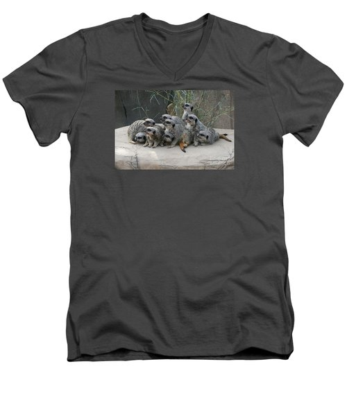 We Are Family Men's V-Neck T-Shirt by Judy Whitton
