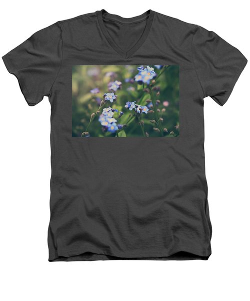 We Lay With The Flowers Men's V-Neck T-Shirt