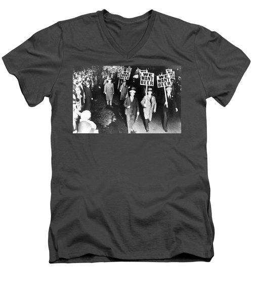 We Want Beer Men's V-Neck T-Shirt
