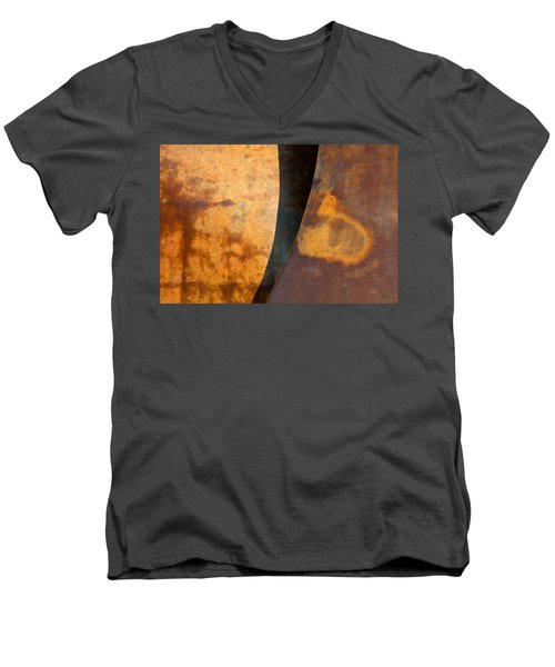 Weathered Bronze Abstract Men's V-Neck T-Shirt
