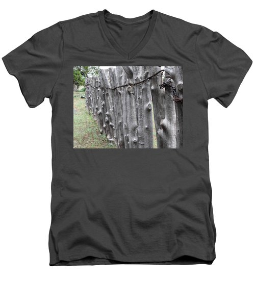Men's V-Neck T-Shirt featuring the photograph Weathered by Natalie Ortiz