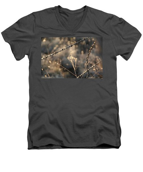 Men's V-Neck T-Shirt featuring the photograph web by David S Reynolds