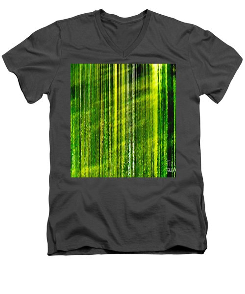 Weeping Willow Tree Ribbons Men's V-Neck T-Shirt