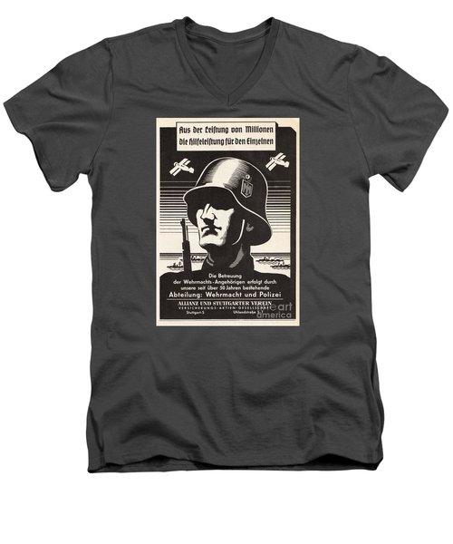 Wehrmacht Men's V-Neck T-Shirt