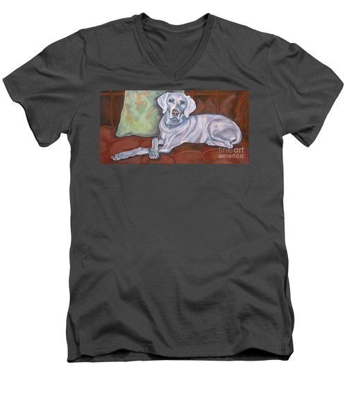 Weimaraner Reclining Men's V-Neck T-Shirt