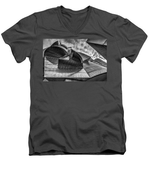Weisman Art Museum Men's V-Neck T-Shirt by Tom Gort