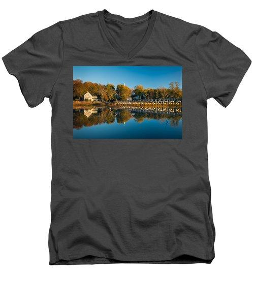Wellfleet Reflection Men's V-Neck T-Shirt
