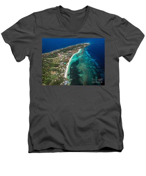 West End Roatan Honduras Men's V-Neck T-Shirt