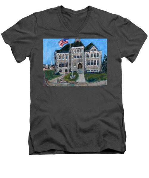 West Hill School In Canajoharie New York Men's V-Neck T-Shirt