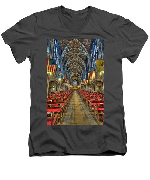 West Point Cadet Chapel Men's V-Neck T-Shirt