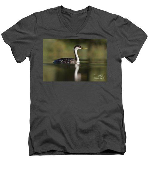 Western Grebe Men's V-Neck T-Shirt