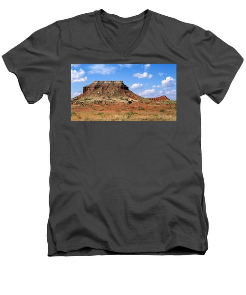 Lone Peak Mountain Men's V-Neck T-Shirt