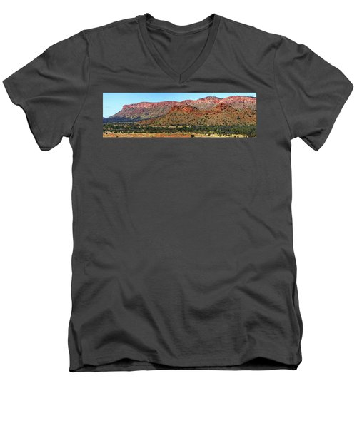 Western Macdonnell Ranges Men's V-Neck T-Shirt by Paul Svensen