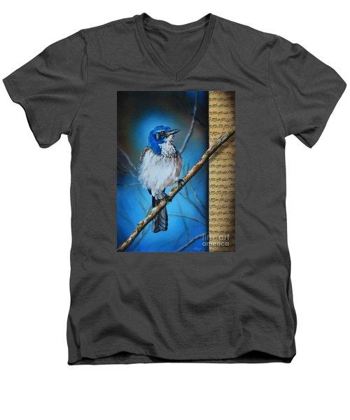 Western Scrub Jay Men's V-Neck T-Shirt