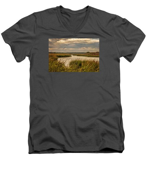 Wetlands In September Men's V-Neck T-Shirt