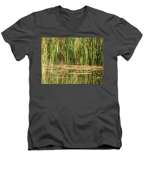 Men's V-Neck T-Shirt featuring the photograph Wetlands by Laurel Powell