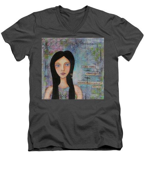 What Is A Friend # 2 Men's V-Neck T-Shirt by Nicole Nadeau