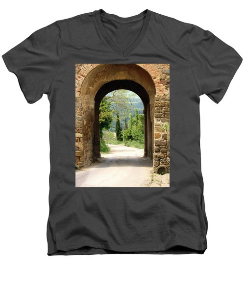 What Lies Ahead Men's V-Neck T-Shirt by Ellen Henneke