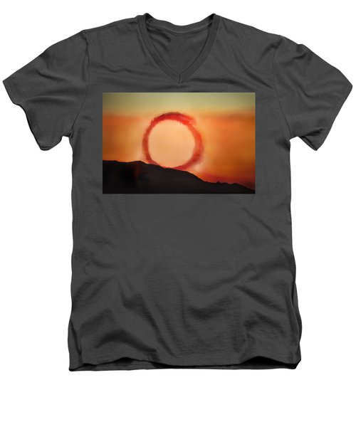 Men's V-Neck T-Shirt featuring the photograph Wheel In The Sky by John Hansen
