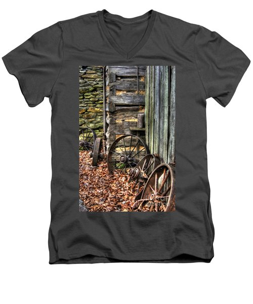 Wheels Of Time Men's V-Neck T-Shirt by Benanne Stiens