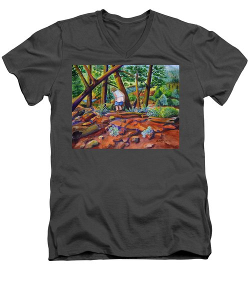 When Nature Calls Men's V-Neck T-Shirt