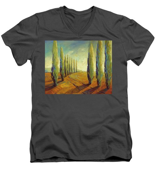 Where Evening Begins 1 Men's V-Neck T-Shirt