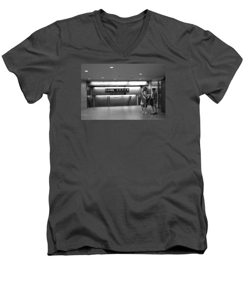 Which One Men's V-Neck T-Shirt by John Schneider
