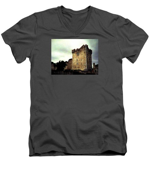 Whispers And Footsteps Men's V-Neck T-Shirt by Angela Davies
