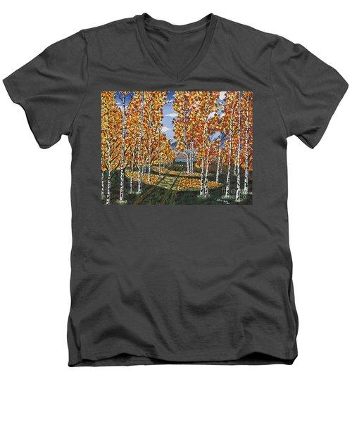 White Birch Reservoir  Men's V-Neck T-Shirt