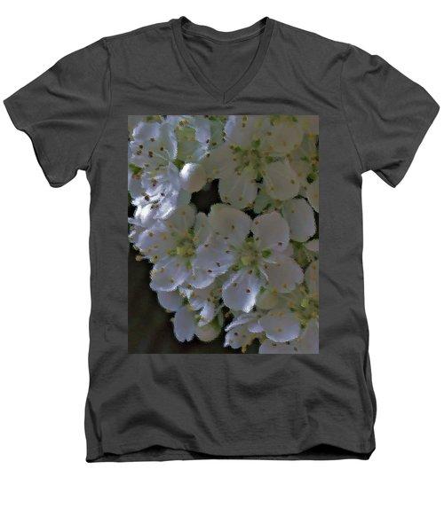 White Blooms Men's V-Neck T-Shirt