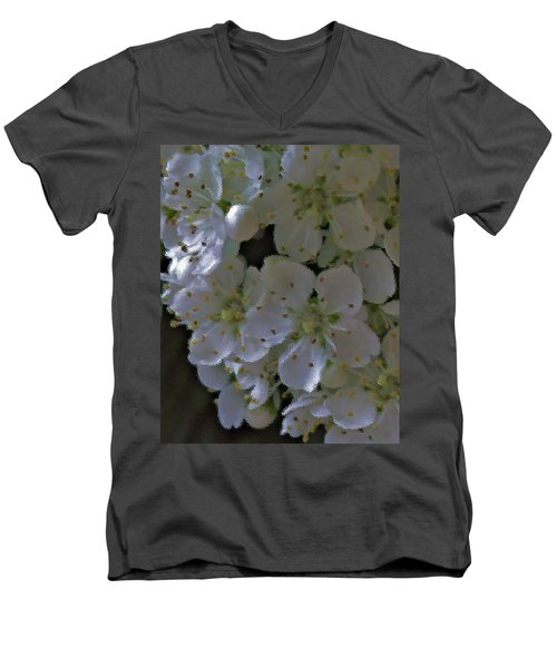 White Blooms Men's V-Neck T-Shirt