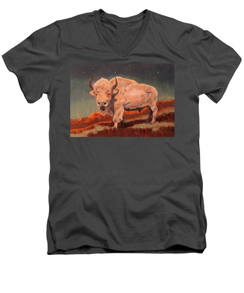 White Buffalo Nocturne Men's V-Neck T-Shirt