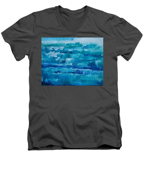 White Caps Men's V-Neck T-Shirt