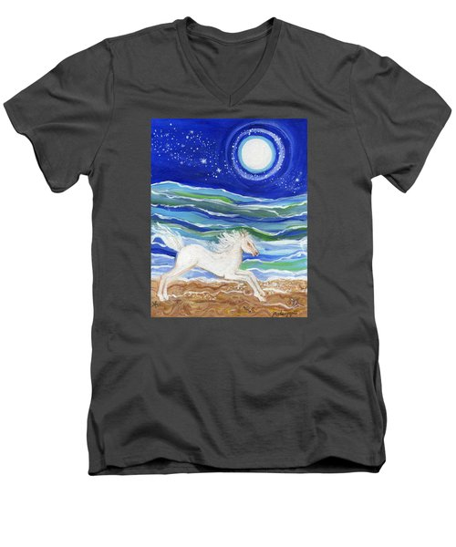 White Horse Of The Sea Men's V-Neck T-Shirt