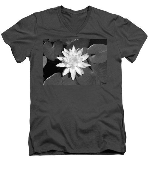 White Lotus 2 Men's V-Neck T-Shirt by Ellen Henneke