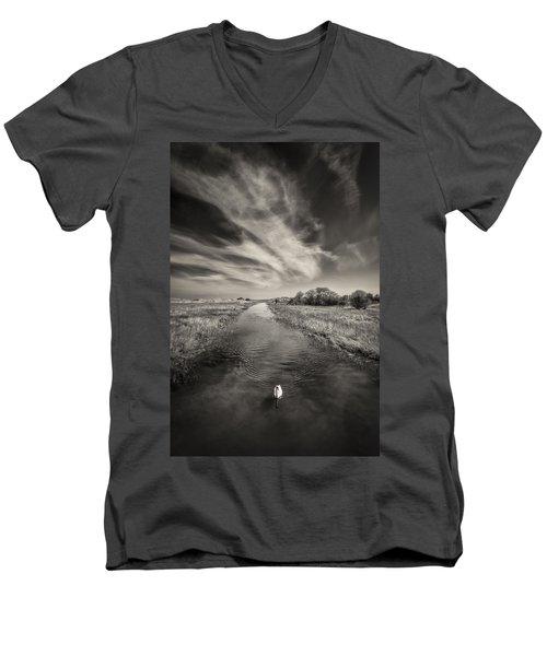 White Swan Men's V-Neck T-Shirt