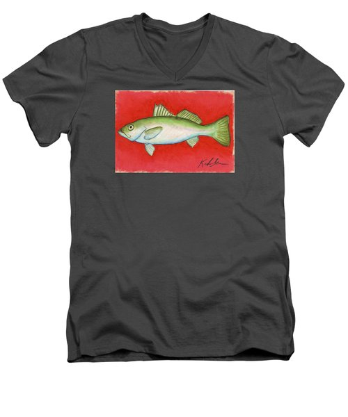 White Trout Men's V-Neck T-Shirt