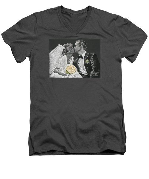 White Wedding Men's V-Neck T-Shirt by Katharina Filus