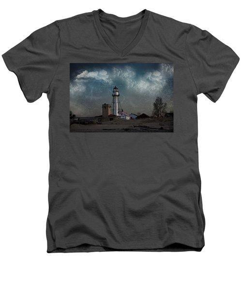 Whitefish Point Lighthouse Lake Superior Men's V-Neck T-Shirt