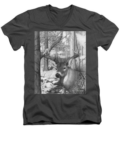Whitetail Phantom Men's V-Neck T-Shirt