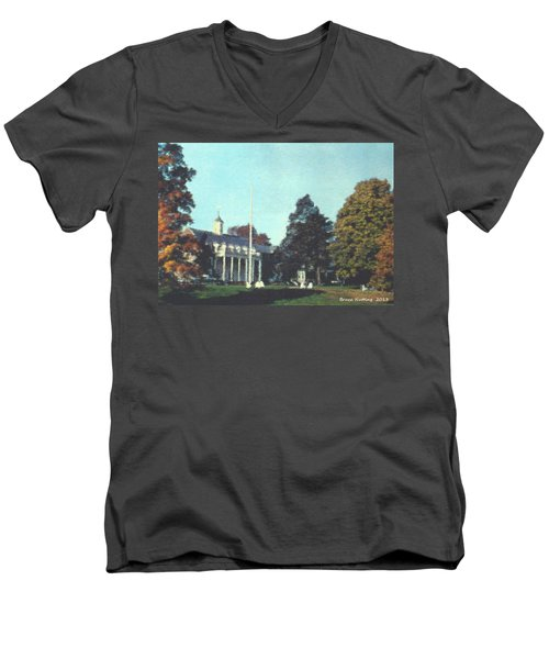 Whittle Hall Men's V-Neck T-Shirt by Bruce Nutting