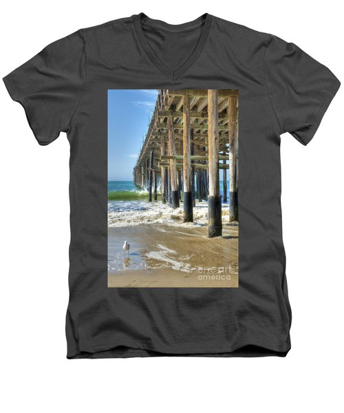 Who Are You Looking At Men's V-Neck T-Shirt by David Zanzinger
